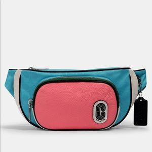 COACH Court Belt Bag Fanny Pack Aqua Pink
